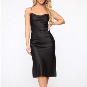 Fashion Nova Turn To You Satin Midi Dress